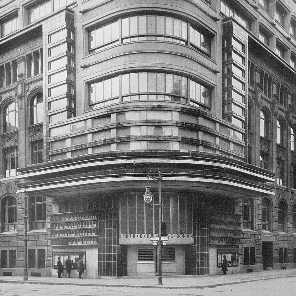 BERLIN Mossehaus, 1921-1923, Architekt Erich Mendelson, Baukeramik aus Velten