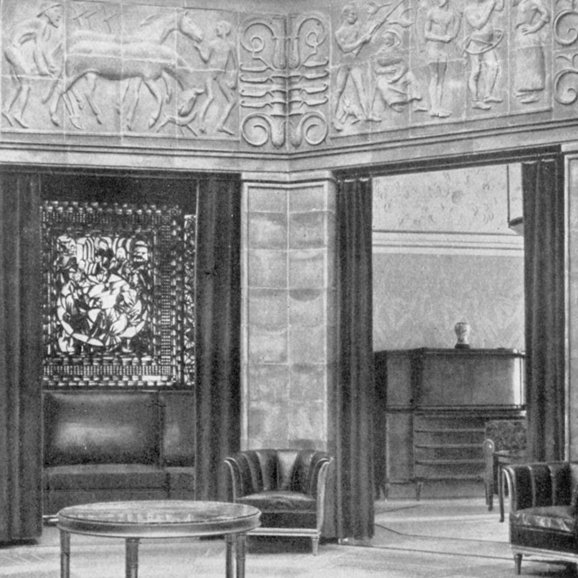 KÖLN Werkbund-Ausstellung 1914, Architekt Walter Gropius, Baukeramik aus Velten