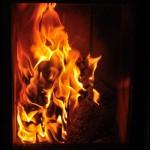 Am warmen Feuer